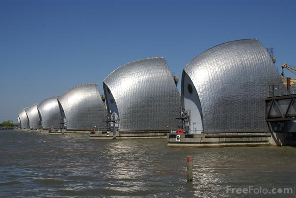Thames Barrier Closed For Queens Diamond Jubilee River