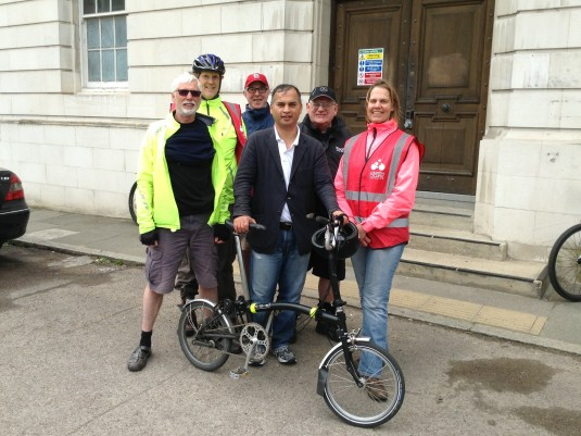 With Hounslow LCC at Market Place, Brentford