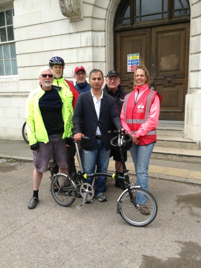 With Hounslow London Cycling Campaign in Market Place, Brentford
