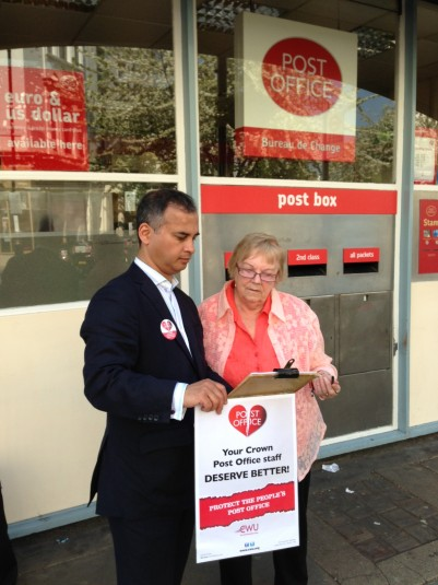 Campaigning against PO closures in Pimlico