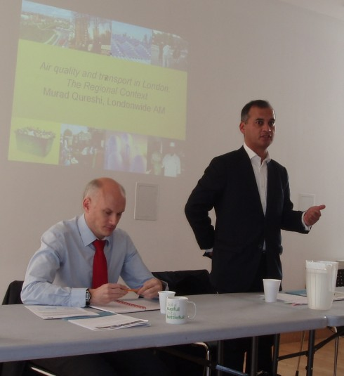 """Speaking at the London Sustainability Exchange """"Cleaner Air for Communities"""" project"""