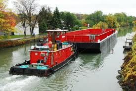 Water Freight along the Grand Union for HS2 works along Old Oak Common