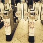 Heathrow sponsored ticket barriers at Westminster tube station