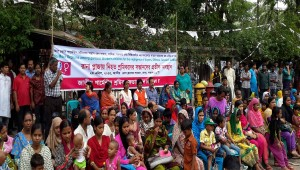 Rana Plaza victims' orphan children stage sit-in demo