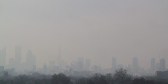 Air pollution over Central London