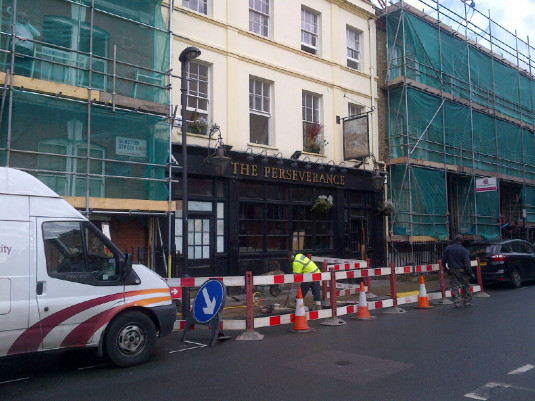 Another pub bits the dust in my neighbourhood as its converted into residential