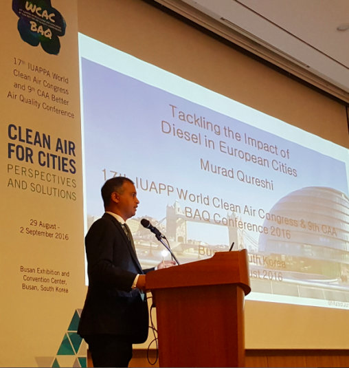 Undertaking my keynote speech at 17th IUAPPA & 9th CAA Better Air Quality Conference